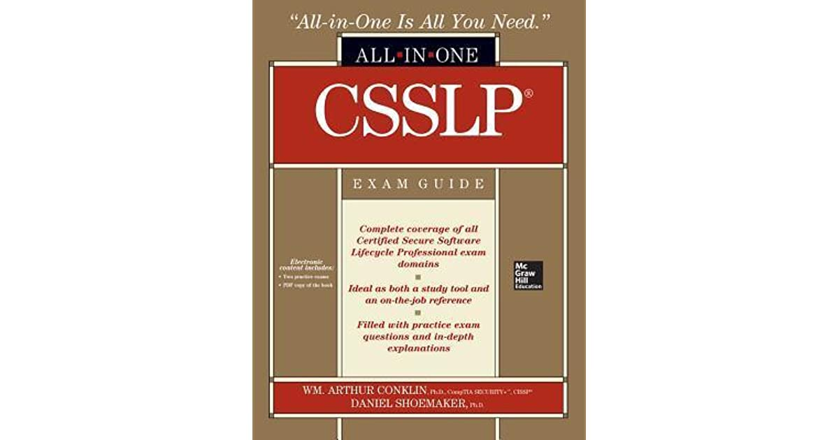 Csslp Certification All In One Exam Guide By William Arthur Conklin