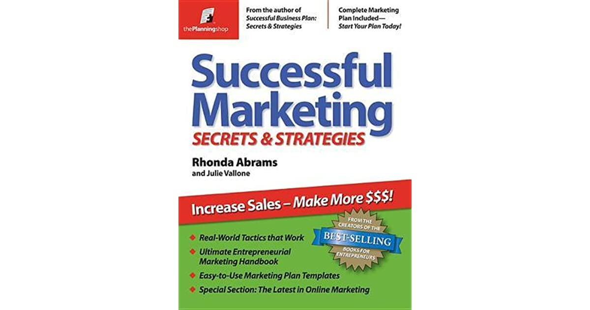 Successful Marketing Secrets Strategies By Rhonda M Abrams