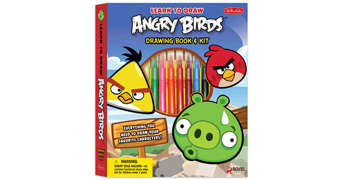Learn To Draw Angry Birds Drawing Book Kit Includes Everything