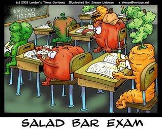 Salad Bar Exam Offbeat Cartoons by Rick London (#1 Google Ranked) 13th Anniversary