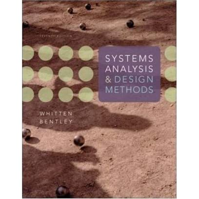 Systems Analysis And Design Methods By Jeffrey L Whitten
