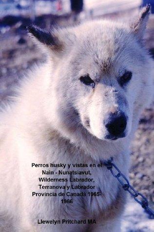 Perros husky y vistas en el Nain - Nunatsiavut, Wilderness Labrador, Terranova y Labrador Provincia de Canadá 1965-1966