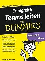 Erfolgreich Teams leiten für Dummies (German Edition)