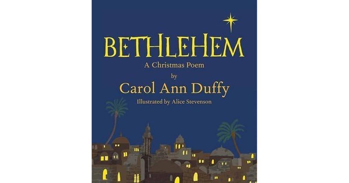 Bethlehem By Carol Ann Duffy