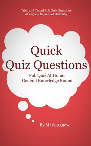 Quick Quiz Questions Pub Quiz At Home: General Knowledge Round by