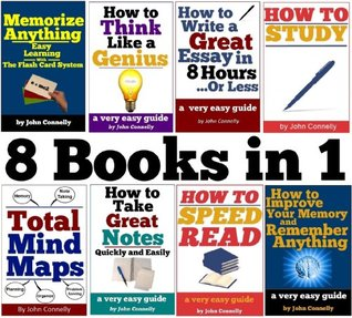 Improve Memory, Speed Read, Mind Map, Note Taking, Essay Writing, Think Like a Genius, Study: 8 eBooks in 1: Study Skills Collection