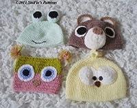 171 - Baby Animal Hats Crochet Pattern USA