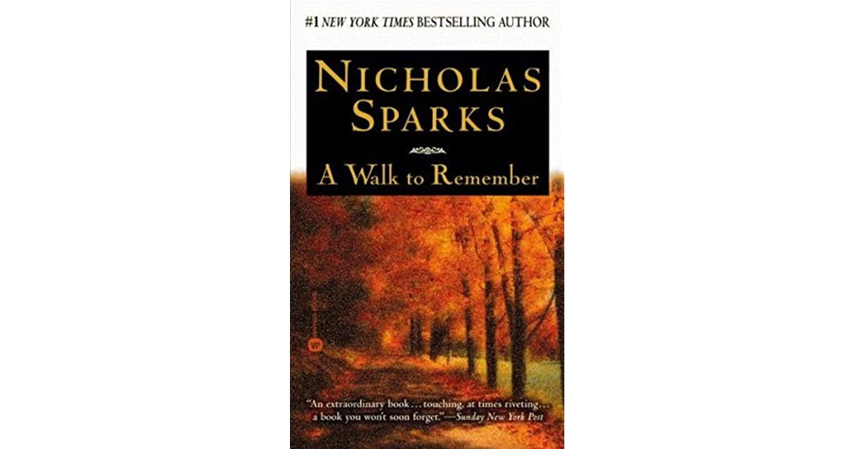 a walk to remember book vs movie essay As with most of nicolas spark's stories, i did see the movie first when i like a movie, that is when i go to the book to see it is even better.
