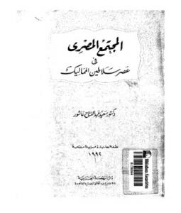 المجتمع المصري في عصر سلاطين المماليك