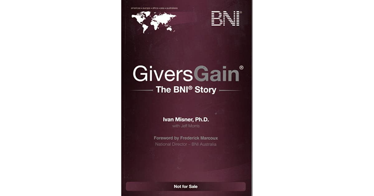 Suresh Vijendran's review of Givers Gain The BNI Story
