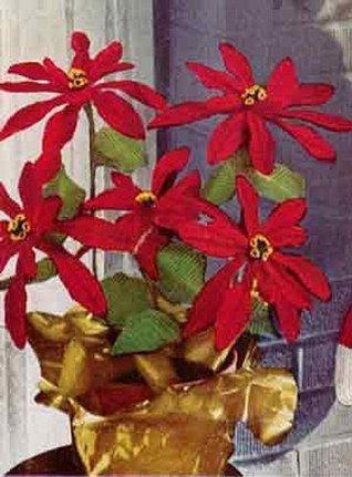 POINSETTIA PLANT Crochet Pa...