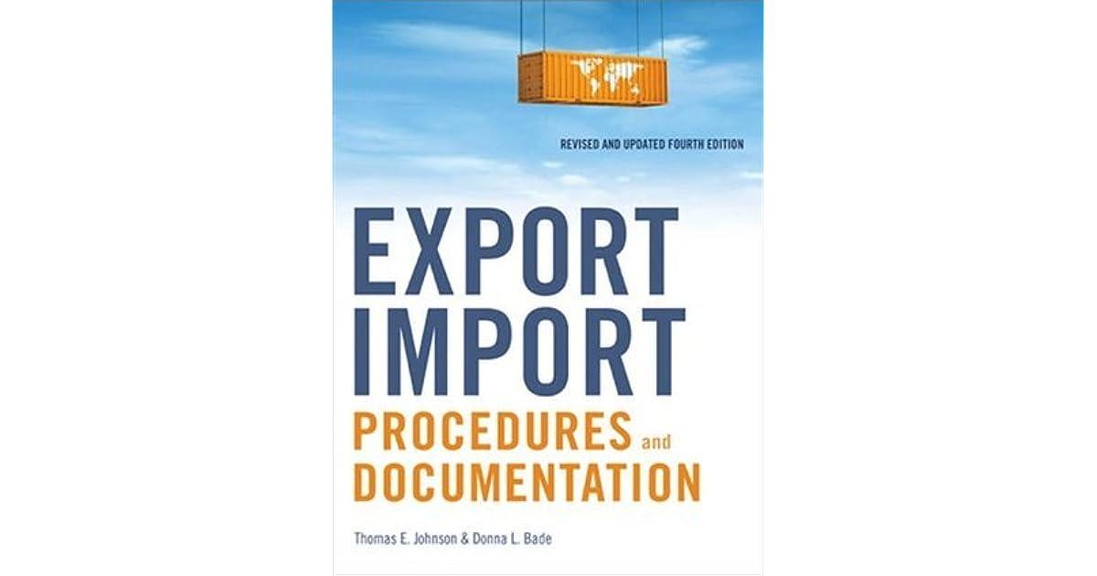 Export Import Procedures And Documentation Book