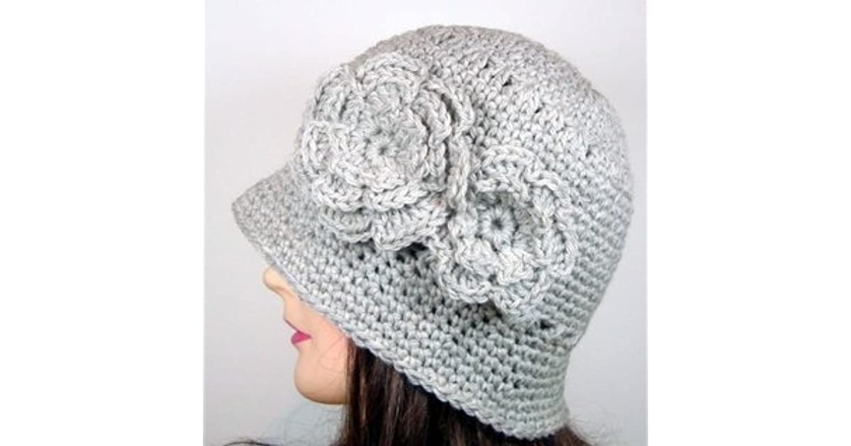 Cloche Hat With Two Flowers Crochet Pattern By Melissa Martinez