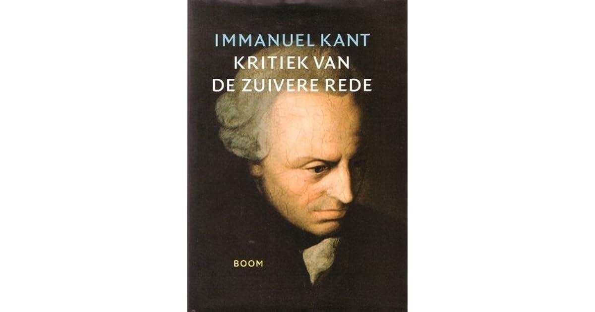 Kritiek Van De Zuivere Rede By Immanuel Kant