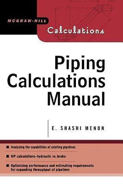 piping calculations manual by e shashi menon rh goodreads com HVAC Load Calculation Manual N Manual Calculation Excel