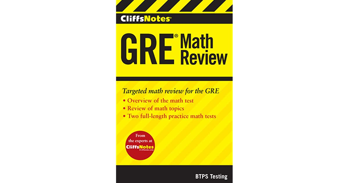 CliffsNotes GRE Math Review by BTPS Testing