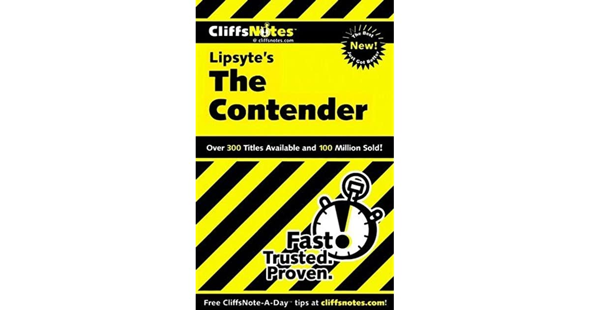 CliffsNotes on Lipsytes The Contender (Cliffsnotes Literature Guides)