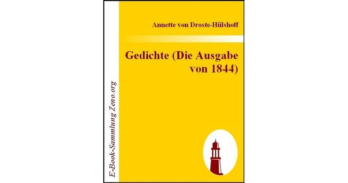 Gedichte Die Ausgabe Von 1844 By Annette Von Droste Hülshoff