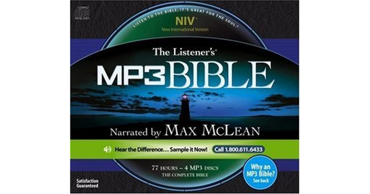 The Listener's NIV MP3 Audio Bible by Max McLean