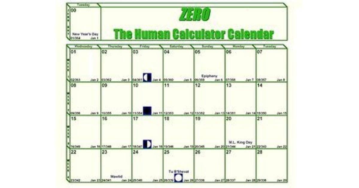The Human Calculator Calendar 2013 Edition By Scott Flansburg