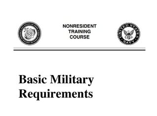 Navy Basic Military Requirements by U S  Department of the Navy