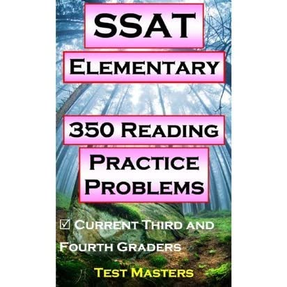 SSAT Elementary - 1,040 Math Practice Problems ( Testing for Grades 3 and 4 )