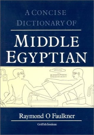 Concise Dictionary of middle Egypt