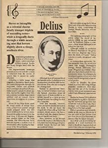 Frederick Delius: Music with the Imprint of Florida