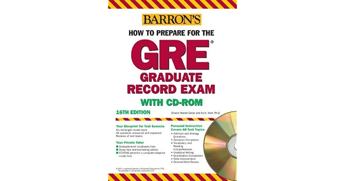 Barron's How to Prepare for the GRE Graduate Record Exam