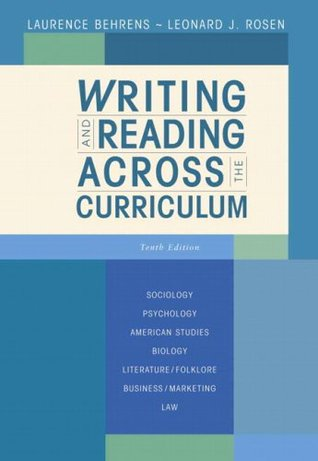 writing and reading across the curriculum 14th edition pdf