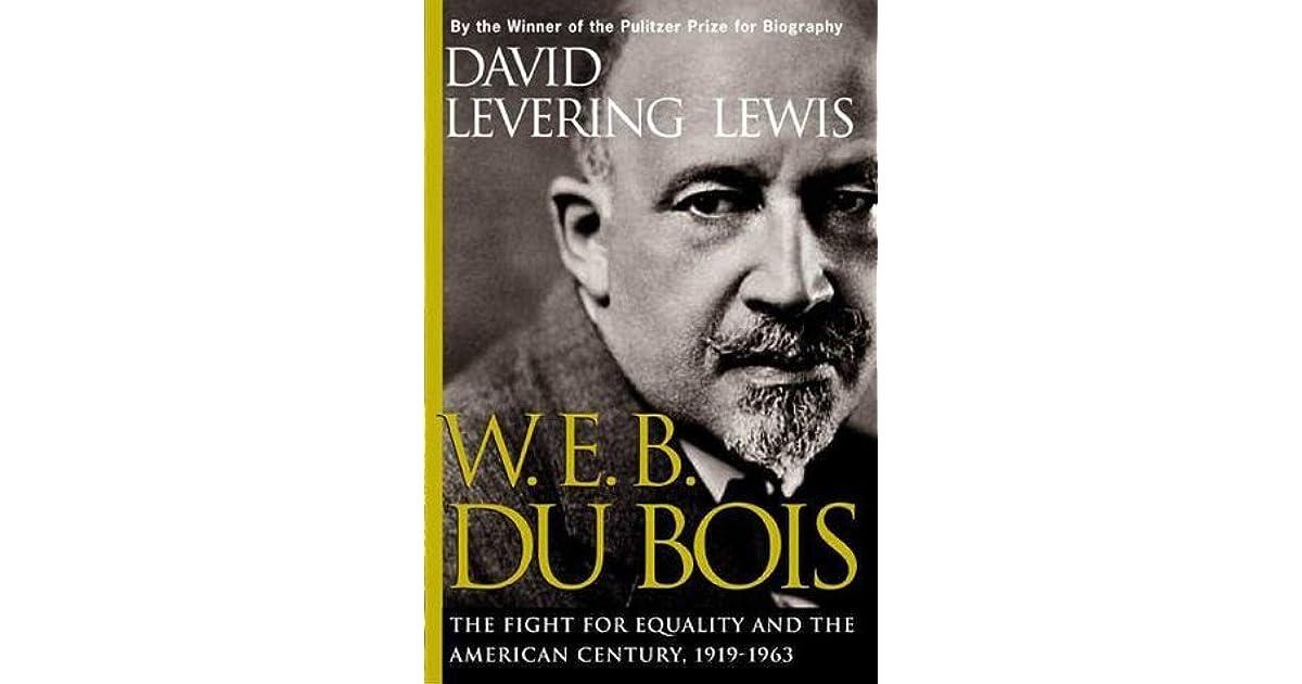 w e b dubois view of equality vs