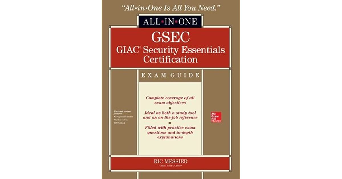 Gsec Giac Security Essentials Certification All In One Exam Guide By