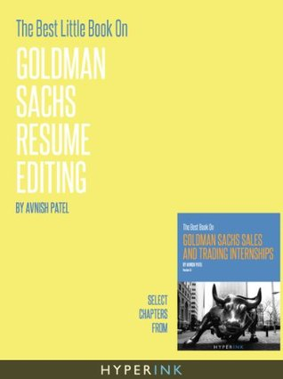 The Best Little Book On Goldman Sachs Resume Editing