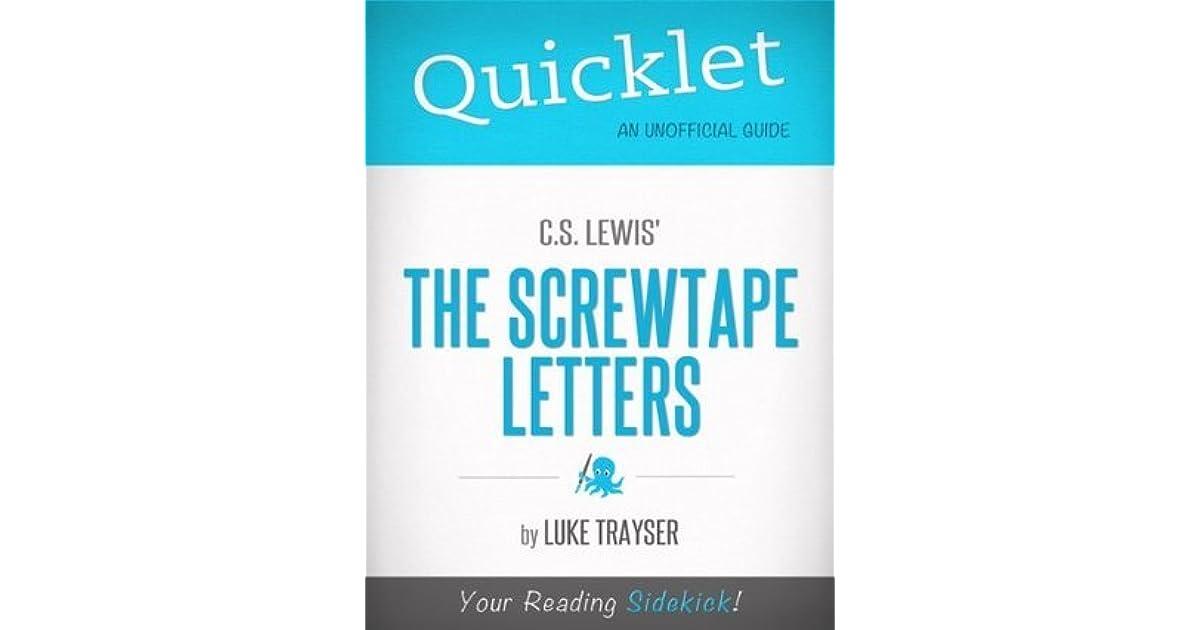 quicklet on c.s. lewis' the screwtape lettersluke trayser