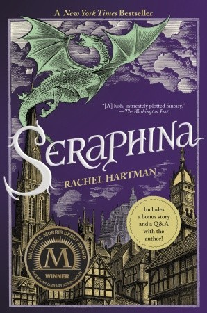 "book cover of ""Seraphina"" by Rachel Hartman"