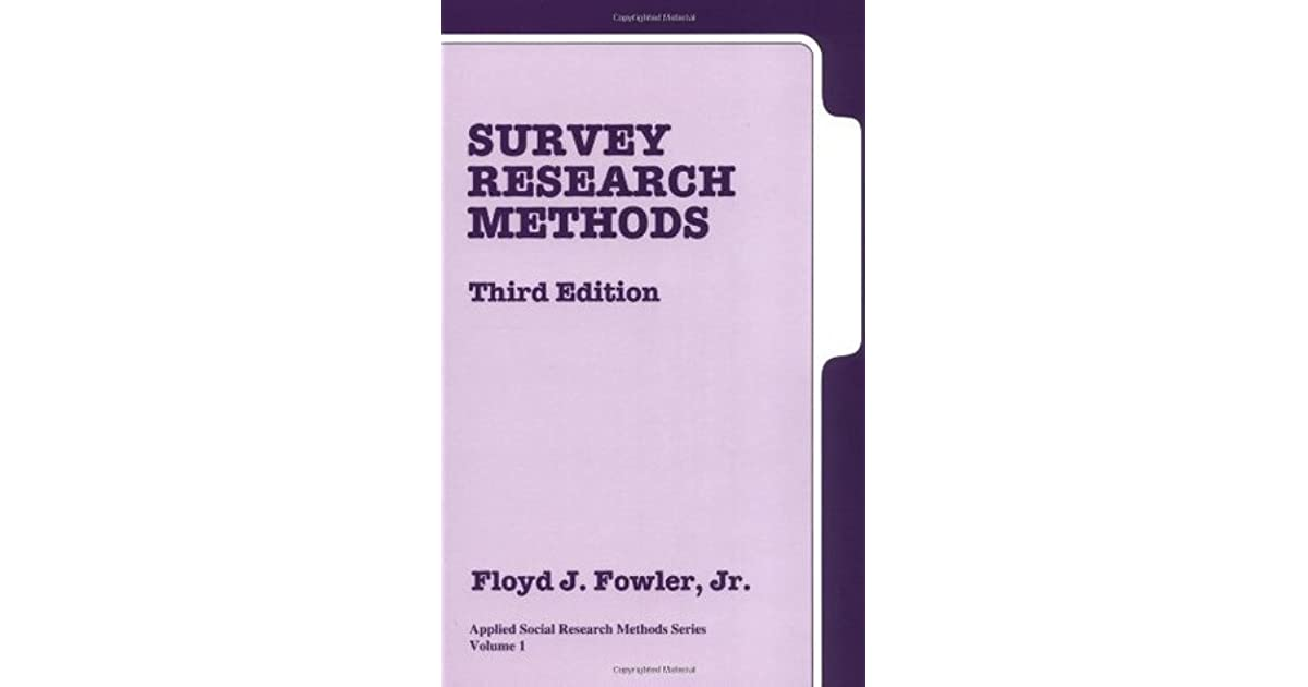 SURVEY RESEARCH METHODS FOWLER PDF DOWNLOAD
