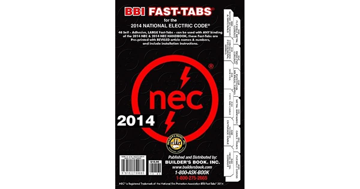 National electric code 2014 nec bbi fast tabs by builders book inc malvernweather Choice Image
