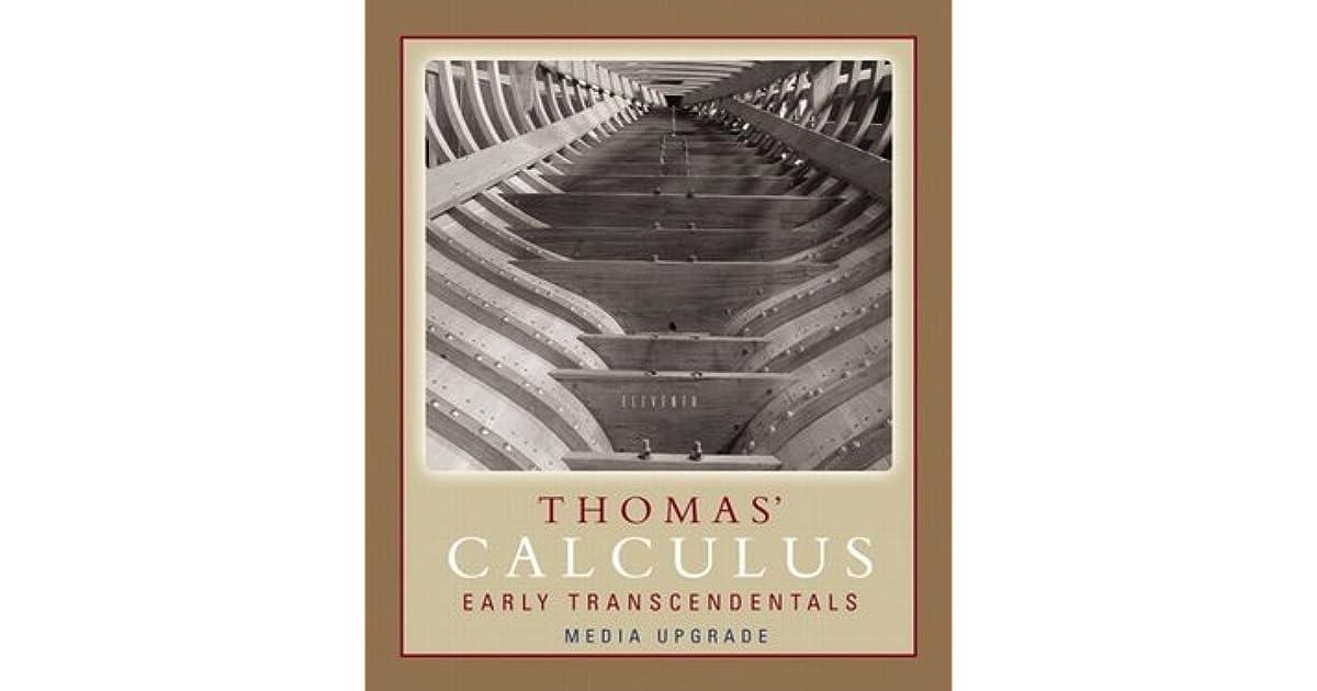 Pdf thomas calculus 11th edition