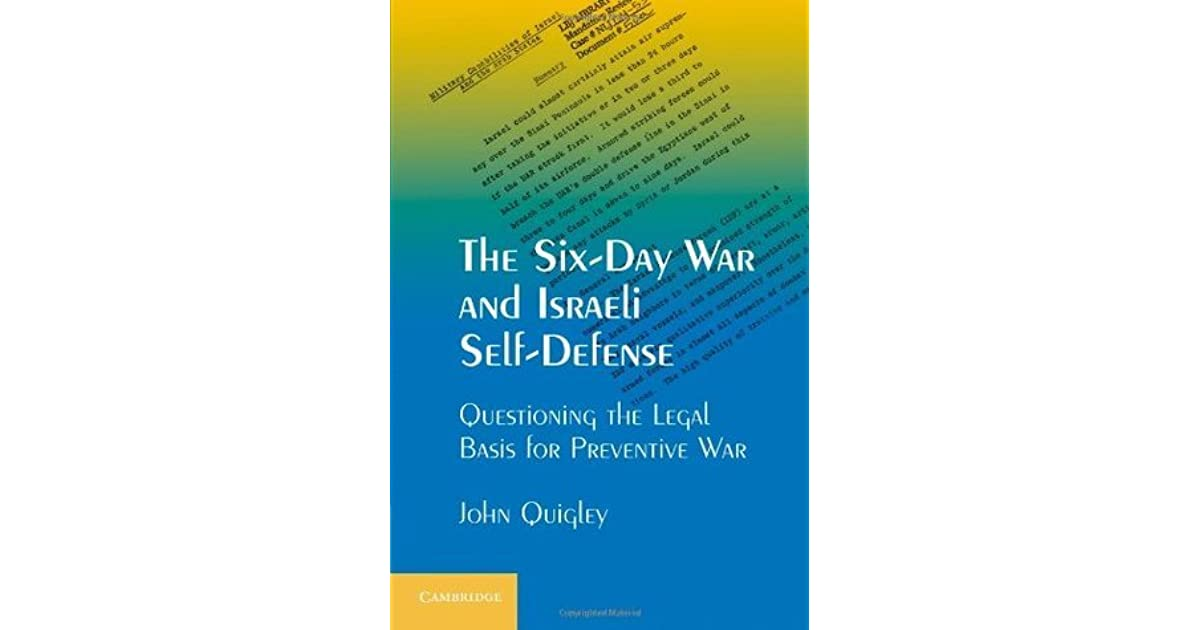 Into the Intro: The Six-Day War and Israeli Self-Defense