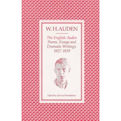 w.h. auden essays The poem funeral blues is written by wh auden in 1936 and its main themes are time, death and love the lyrical i in this poem is a love one left behind, who.