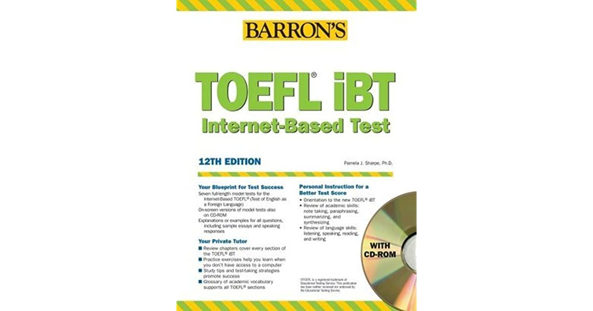 Barrons toefl ibt internet based test by pamela j sharpe fandeluxe Choice Image