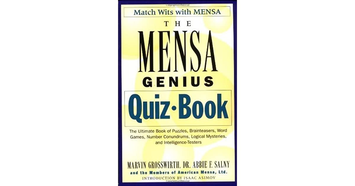 The Mensa Genius Quiz Book by Marvin Grosswirth