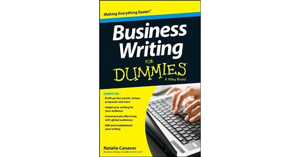 business writing for dummies canavor natalie