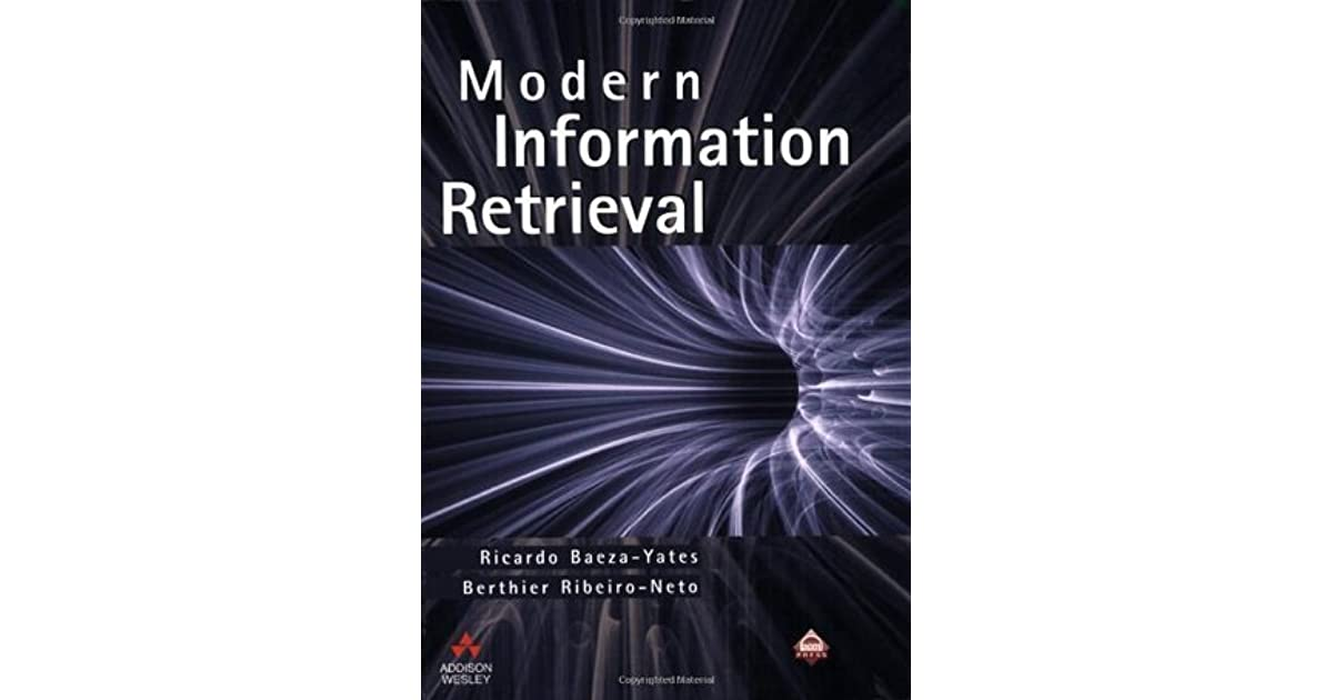 modern information retrieval ricardo baeza yates ebook free download