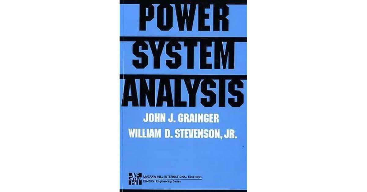 Power System Analysis Grainger Stevenson Pdf