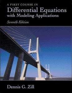 A First Course In Differential Equations With Modeling