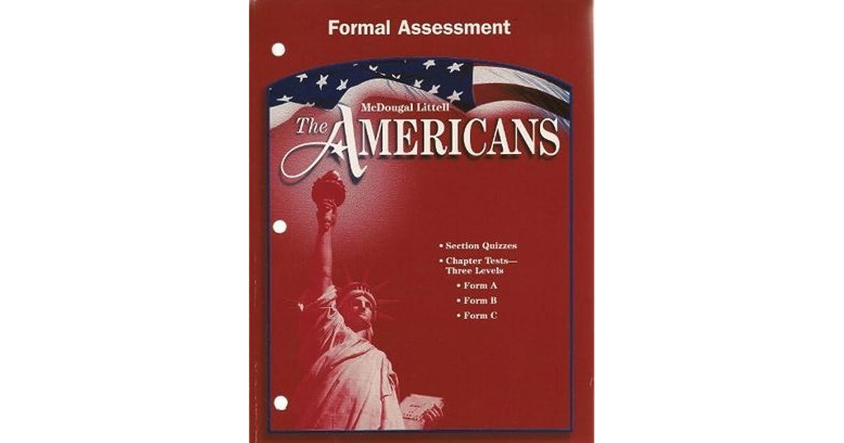 McDougal Littell The Americans Formal Assessment Grades 9