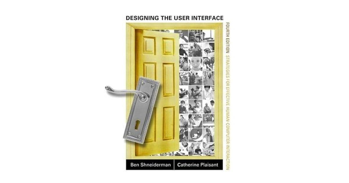 Designing The User Interface Ben Shneiderman Pdf