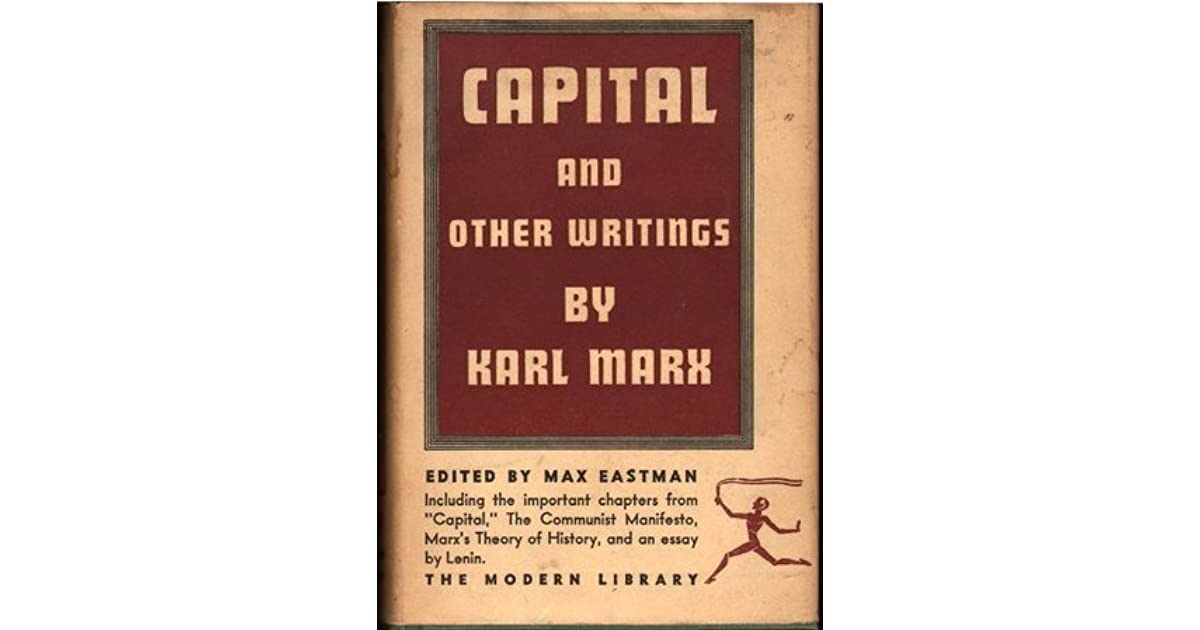 capital the communist manifesto and other writings by karl marx