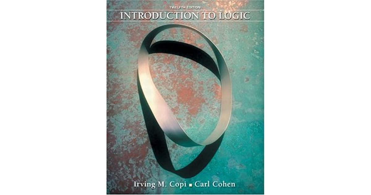 Introduction To Logic By Irving M Copi